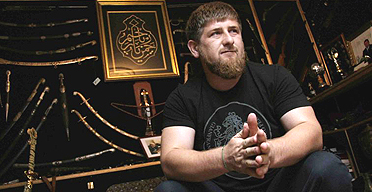 Ramzan Kadyrov, the president of Chechnya. Photograph: Oleg Nikishin/Getty