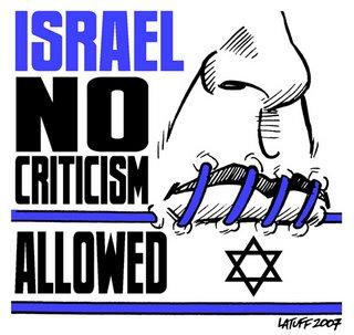Israel Criticism not Allowed - http://latuff2.deviantart.com/