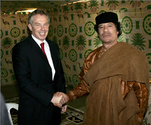 Blair & Gaddafi